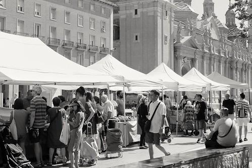 Market walk.