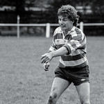 Blast From The Past No. 55: Sale v. Manchester, October 1984. Howard Fitton politely indicates the location of the ball to his forwards. Shot on Ilford HP5.