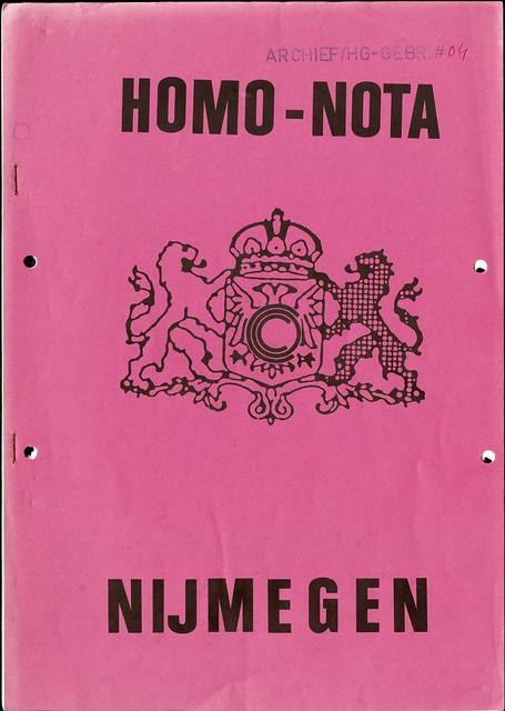 1983 Homo-nota Nijmegen