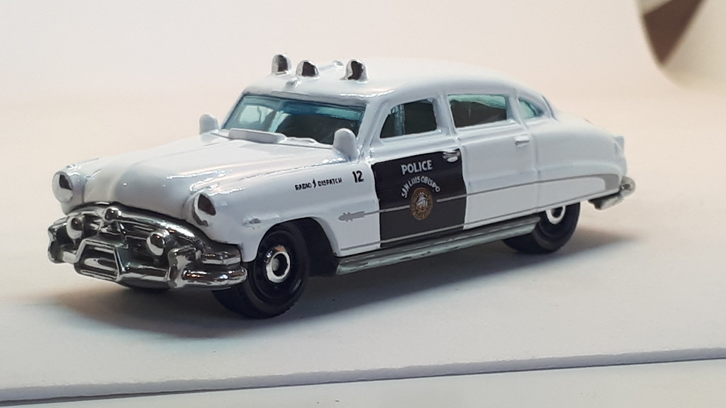 1941 Hudson Hornet Police Car Custom Christmas Ornament 1:64 Diecast Blue