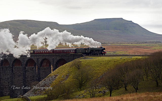 Flying Scotsman at Ribblehead Viaduct 2.