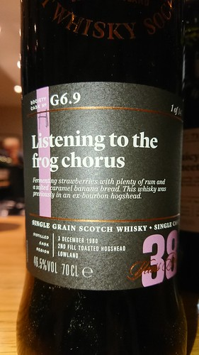 SMWS G6.9 - Listening to the frog chorus | by philipstorry