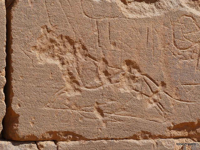 Temple 300, Lion Graffiti, Great Enclosure, Musawwarat es-Sufra (1)