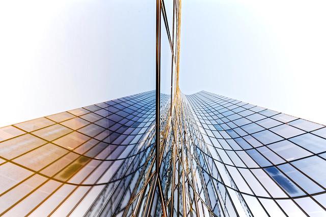 Reflet miroir sur la tour Manhattan