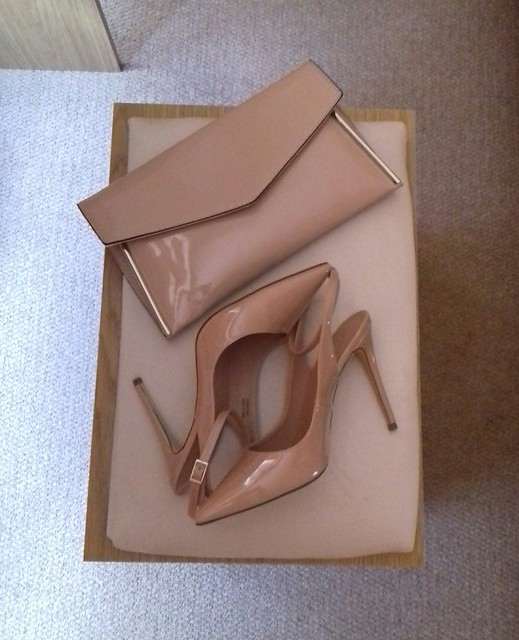 My nude shoes and clutch.