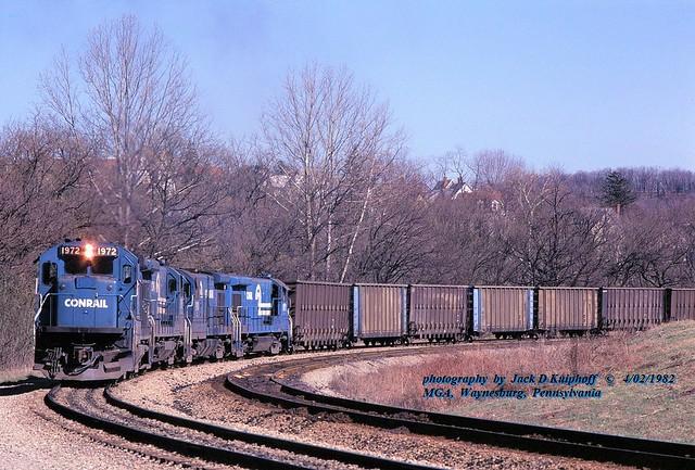 CR 1972-1975-1910-1971, MGA, Waynesburg, PA. 4-02-1982