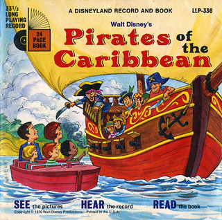 1970 Walt Disney's Pirats of the Caribbean Record and Book