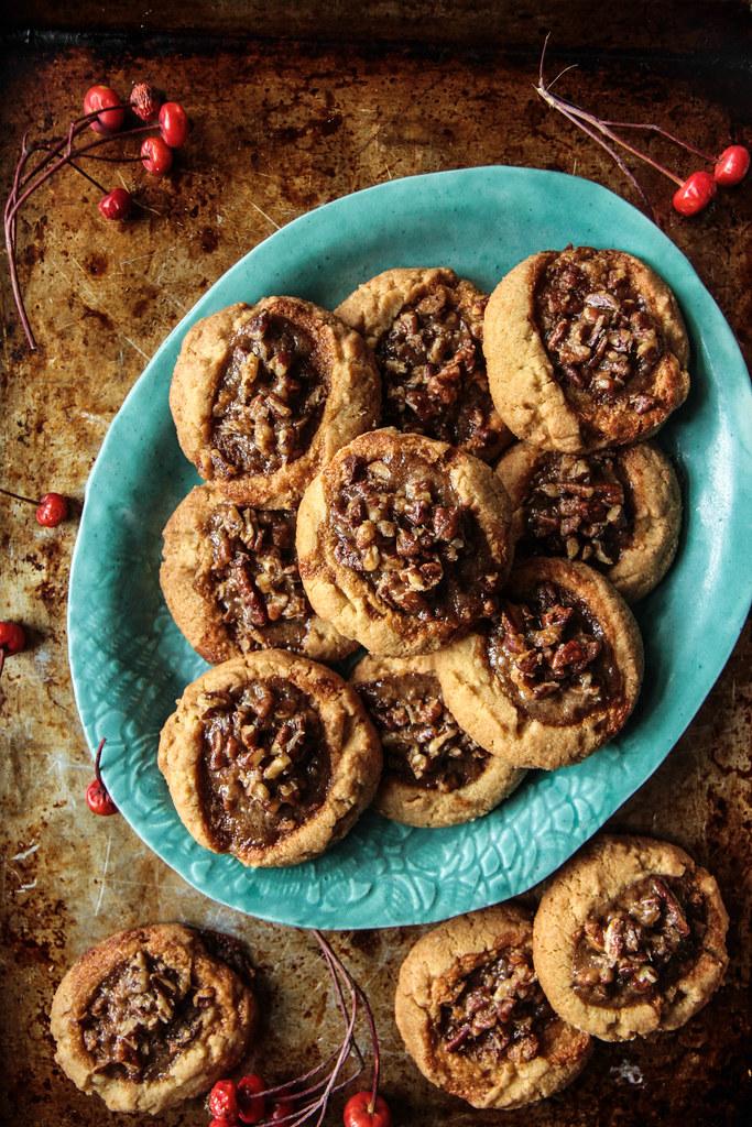 Pecan Pie Cookies (Vegan and Gluten-free) from HeatherChristo.com