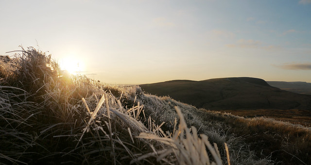 On the summit of Fan Nedd, evening