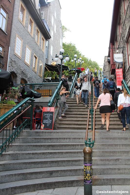 Vieux Quebec Escalier Casse-Cou