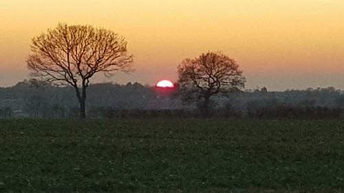 withersfield suffolk sunset