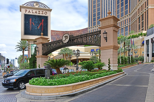 Las Vegas NV, USA 10-02-18 The Palazzo is a luxurious classic Italian hotel, refined by its exclusive Boutiques and is part of a luxury complex that includes The Venetian Resort-Hotel-Casino