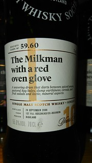 SMWS 59.60 - The Milkman with a red oven glove