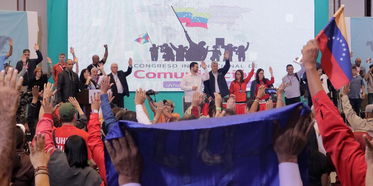 Congreso Internacional de Comunicación condena golpe de Estado en Bolivia y bloqueo genocida contra Venezuela