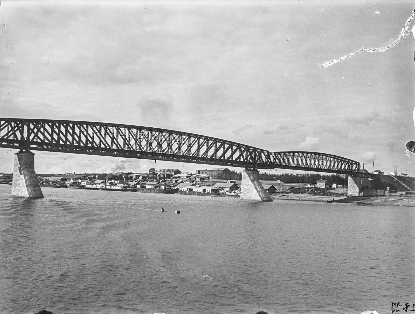 14. Мост через Обь возле города Новониколаевск