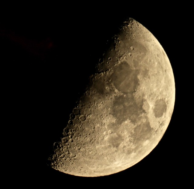 Setting First Quarter Moon