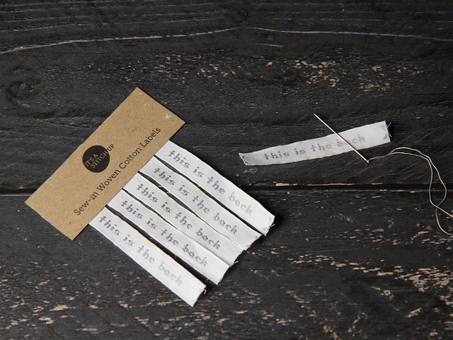 5 x Cotton Woven Labels for handmade items 'this is the back'