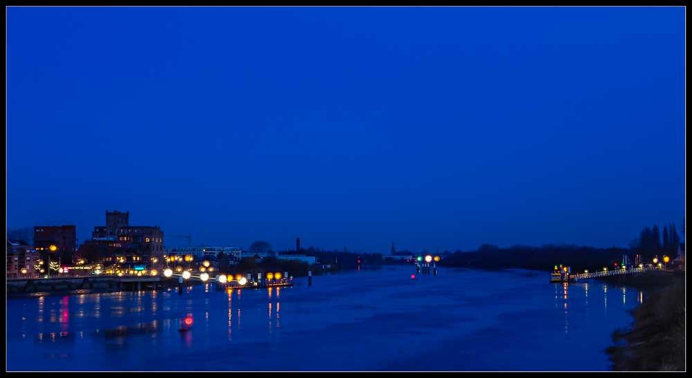 The river Rupel south of Boom. Belgium