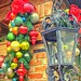 Lantern and Christmas ornaments, El Mercado, San Antonio, Nov. 29, 2019