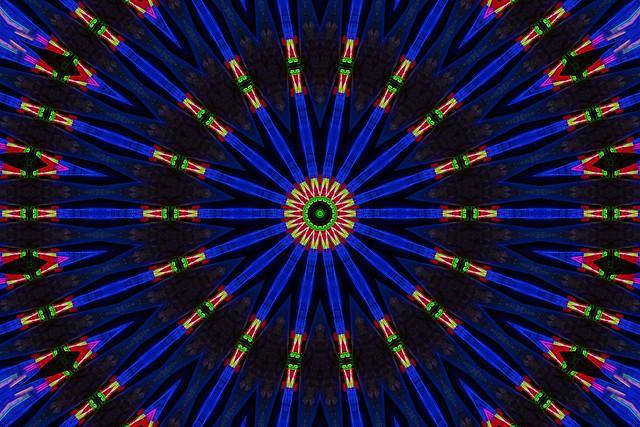 christmas train kaleidoscope