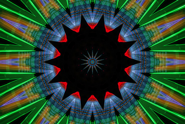 christmas train kaleidoscope ll
