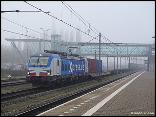 BoxXpress 193 835 met Kornwestheim-shuttle // Station Boxtel