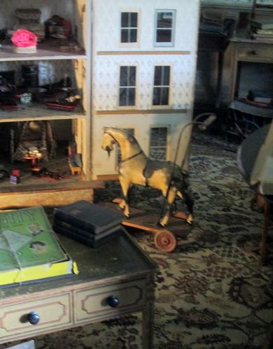 toy room, rocking horse, nursery, Calke Abbey