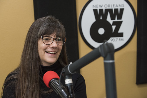 Rachel Lyons at WWOZ's 39th birthday - Dec. 4, 2019. Photo by Ryan Hodgson-Rigsbee rhrphoto.com.