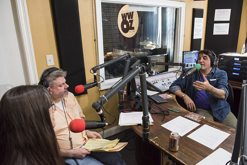 Rachel Lyons, Dave Ankers, and David Kunian at WWOZ's 39th birthday - Dec. 4, 2019. Photo by Ryan Hodgson-Rigsbee rhrphoto.com.