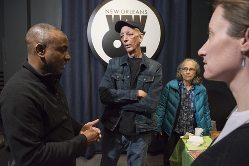 Damond Jacob, Jerry Brock, Hazel Schleuter, Carrie Booher at WWOZ's 39th birthday - Dec. 4, 2019. Photo by Ryan Hodgson-Rigsbee rhrphoto.com.