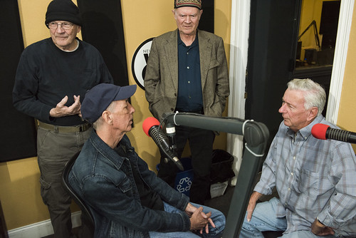 The Governor, Jerry Brock, Steve Armbruster, Jivin' Gene at WWOZ's 39th birthday - Dec. 4, 2019. Photo by Ryan Hodgson-Rigsbee rhrphoto.com.