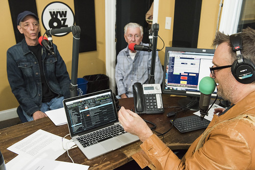 Jerry Brock, Jivin' Gene, and George Ingmire at WWOZ's 39th birthday - Dec. 4, 2019. Photo by Ryan Hodgson-Rigsbee rhrphoto.com.