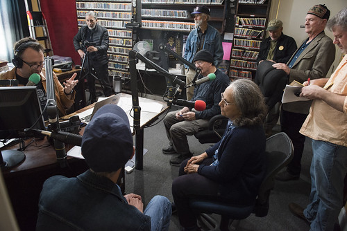 The morning scene in the studio at WWOZ's 39th birthday - Dec. 4, 2019. Photo by Ryan Hodgson-Rigsbee rhrphoto.com.