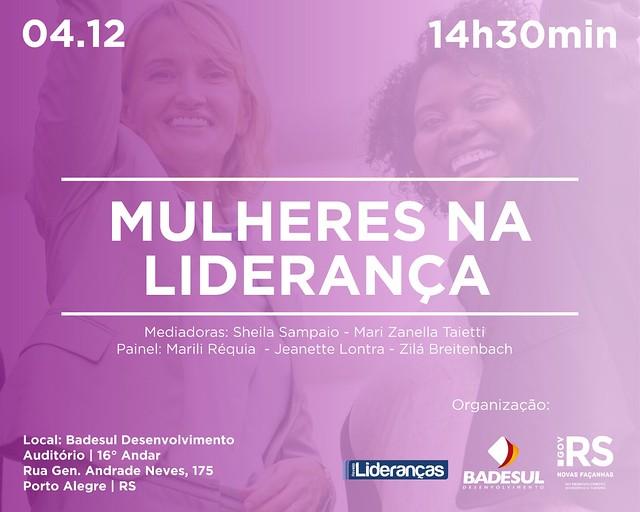 04/12/2019 Premiação Mulheres na Liderança - Porto Alegre