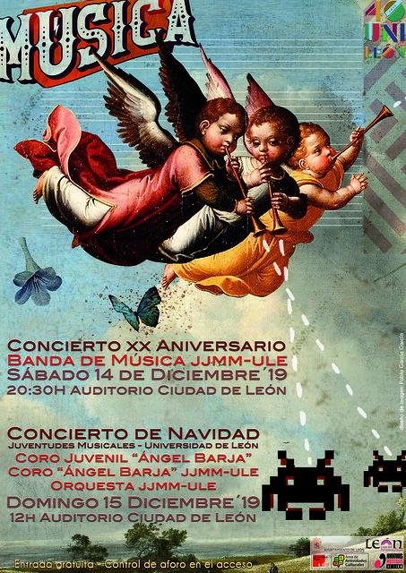 XX ANIVERSARIO DE LA BANDA DE MÚSICA JJMM-ULE Y CONCIERTO DE NAVIDAD JJMM-ULE - 14 Y 15 DE DICIEMBRE´19 - AUDITORIO CIUDAD DE LEÓN