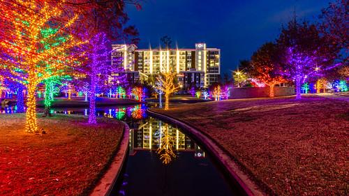christmas lights vitruvianpark dallas texas winter 2019 rokinon12mm longexposure landscape