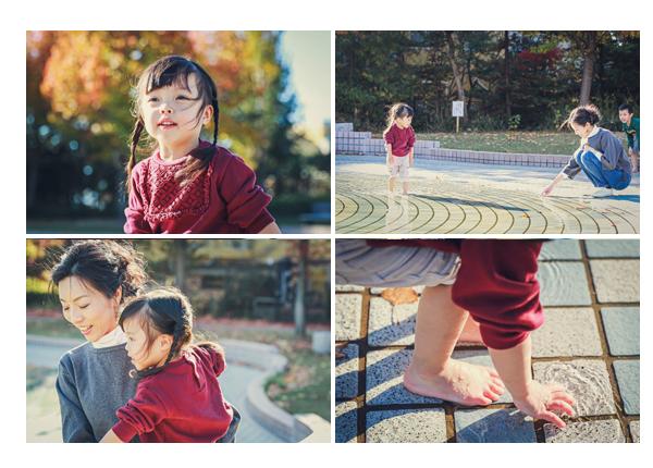 愛知県刈谷市の公園 ミササガパーク 噴水エリア 水辺 秋の紅葉