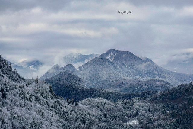 View over the alps by Schwangau, Bavaria, Germany