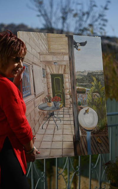 פרידה פירו Frida piro הציירת האמנית הישראלית המודרנית העכשווית הריאליסטית הירושלמית ציירות האמניות המודרניות ציורי נופים