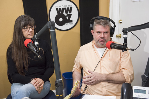 Rachel Lyons, Dave Ankers at WWOZ's 39th birthday - Dec. 4, 2019. Photo by Ryan Hodgson-Rigsbee rhrphoto.com.