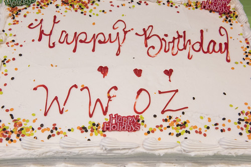 Birthday cake #1 for WWOZ's 39th - Dec. 4, 2019. Photo by Ryan Hodgson-Rigsbee rhrphoto.com.