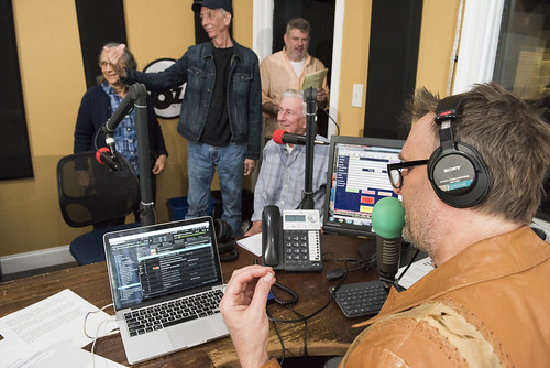 George Ingmire leads the crew at WWOZ's 39th birthday - Dec. 4, 2019. Photo by Ryan Hodgson-Rigsbee rhrphoto.com.