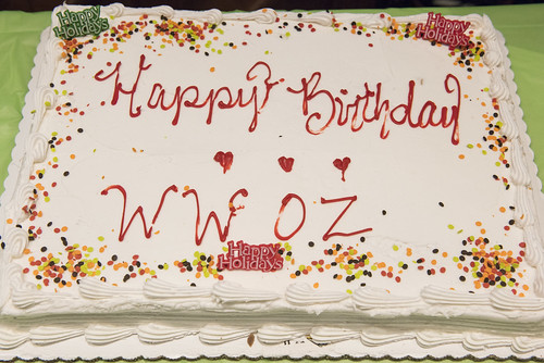 WWOZ's 39th birthday cake - Dec. 4, 2019. Photo by Ryan Hodgson-Rigsbee rhrphoto.com.