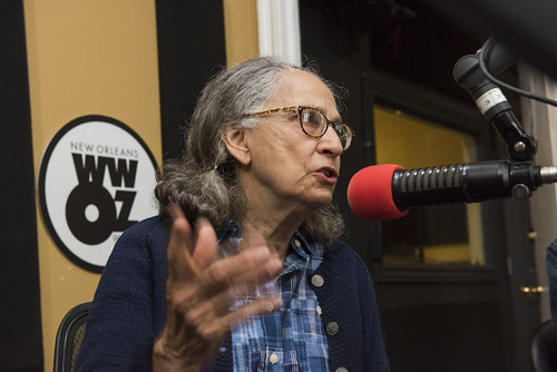 Hazel Schleuter at WWOZ's 39th birthday - Dec. 4, 2019. Photo by Ryan Hodgson-Rigsbee rhrphoto.com.