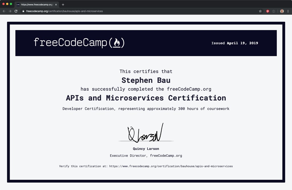 APIs and Microservices Certification