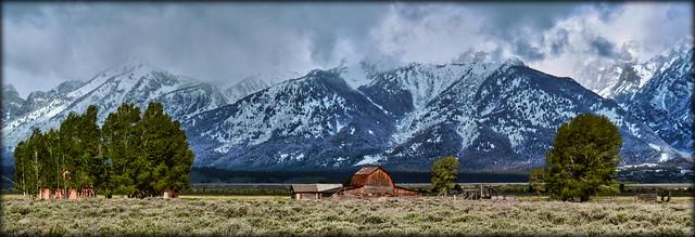 Cold Morning - Panorama - Grand Teton Nationalpark, WY