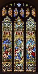 Good Samaritan, Raising of Lazarus, Of such is the Kingdom (Thomas Willement, 1859)
