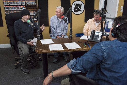 The Governor, Jivin' Gene, Dave Ankers, and David Kunian at WWOZ's 39th birthday - Dec. 4, 2019. Photo by Ryan Hodgson-Rigsbee rhrphoto.com.