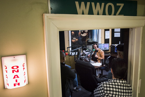 On air at WWOZ's 39th birthday - Dec. 4, 2019. Photo by Ryan Hodgson-Rigsbee rhrphoto.com.