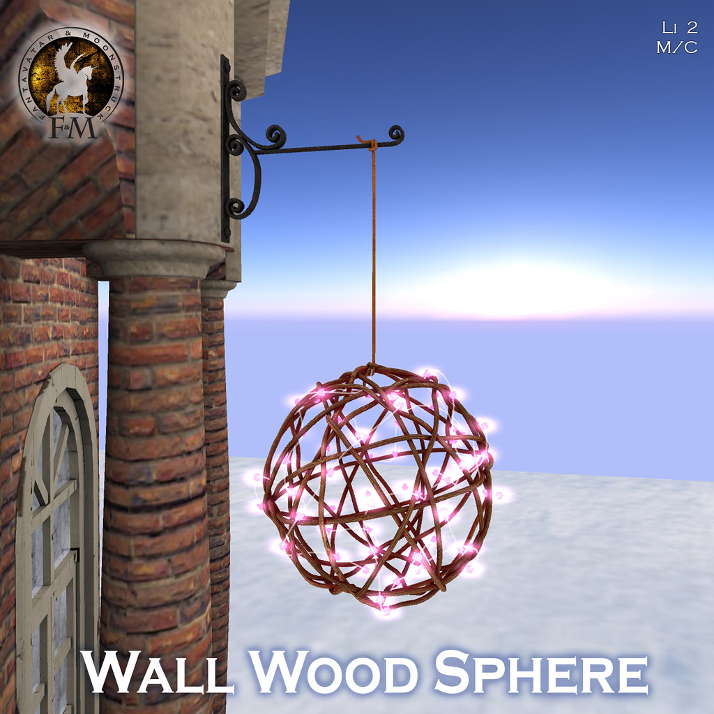 F&M Wall Wood Sphere